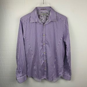Ted Baker Purple Striped Long Sleeve Shirt